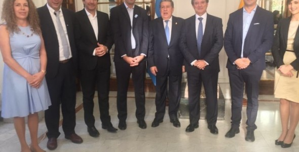 Diputados bonaerenses se reunieron con el embajador argentino Ramón Puerta en España
